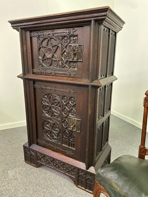 ANTIQUE GOTHIC CABINET